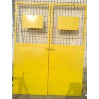 广东省hysw 人货电梯门隔离门 黄色防护网,--455