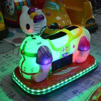 新款儿童电动遥控车广场彩灯玩具车亲子双人游乐车