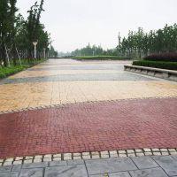 厂家直销宜宾市艺术压花地坪材料 彩色压花地坪材料 地坪脱模粉 彩色石子透水地坪