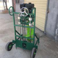 大型多功能拖拉机带动挖洞机 启航牌双人手持式汽油挖坑机 双人手持式汽油挖坑机