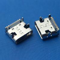 板上TYPE-C USB3.1 母座 带柱 贴板 四脚 6P 16P 24P 台阶脚
