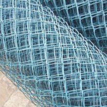 定制勾花网围墙网 勾花网边坡防护网 菱形铁丝网围网