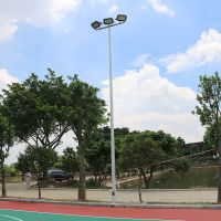 天河区雅浩灯杆灯具配附件批发 4根8米篮球场灯杆 LED投光灯