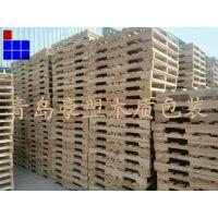 青岛木托盘厂家供应四面进叉实木托盘出口专用质量保证