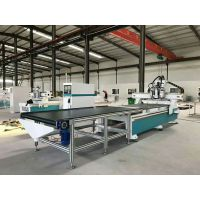 板式家具生产线包括哪些设备 信刻全自动板式家具开料机 木工覆膜机
