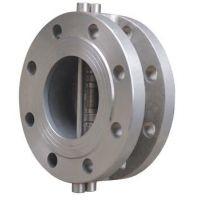 不锈钢对夹止回阀H76W-16P 二通式单向阀蝶式止回阀