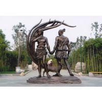 上海园林景观人物小品铸铜雕塑-不锈钢人物摆件设计和制作