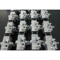 日本kitz不锈钢三通气动球阀 CS-UTNE单作用气动三通阀