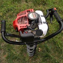 定制直销便携式汽油挖坑机农用小型钻眼机二冲程家用地钻