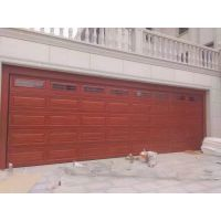 供应安装高档铝合金仿木车库门,防夹手别墅电动入户门