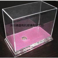 深圳德盛有机玻璃透明箱子 亚克力方形箱 透明方罩