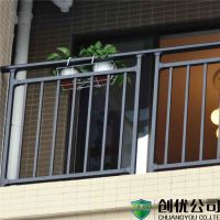 厂家定制室外阳台护栏 塑钢楼梯护栏 空调外机围栏