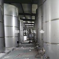 哈尔滨不锈钢白酒贮存罐 白钢酒罐子现场施工 酒灌子操作平台制作工艺 酒厂所有设备