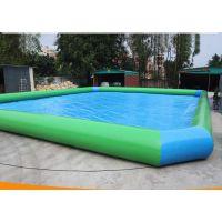 加厚PVC夹网布充气水池 圆形成人户外大型游泳池 商用放手摇船水池价位