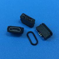 MICRO B型防水母座 MK-5P/180度直插防水USB 迈克防水USB IP67等级带防水胶圈