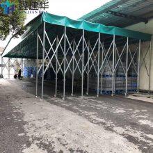 诸暨市大型户外仓库雨棚布 室外临时物流仓储推拉蓬 可折叠活动帐篷公司
