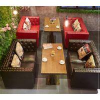 咖啡厅沙发 休闲吧咖啡厅洽谈沙发 西餐厅奶茶店沙发