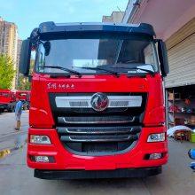 进口发动机的东风天龙前四后八挖机拖车 350马力的前四后八挖机拖车价格