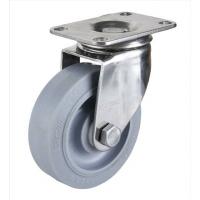 广东4寸不锈钢人造胶脚轮 中型4寸TPR万向工业脚轮规格