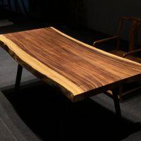 胡桃木实木大板简约现代新原木茶几多功能桌子书桌办公桌家用茶台
