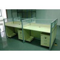多人直排隔断桌 蝴蝶钢架隔断桌 办公桌椅 合肥供应