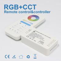 RGBCCT RGBWW 控制器 自动转发自 自动同步 2.4G无线遥控控制 WIFI 按压式接线