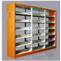 优粵钢制书架工厂定做顺德容桂学校书架书柜北滘图书馆钢木结构书架