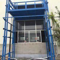 厂家生产导轨式液压升降梯子车间固定升降货梯户外家用电梯