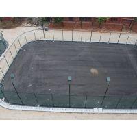 山东建设球场电杆安装 网球场8M灯杆做法 柏克电杆厂家