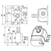 ZKSJ DC30A 鱼缸小水泵 耐磨低压 扬程3米 化工泵