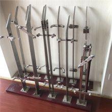 金裕 不锈钢楼梯扶手 工程立柱 单双大刀片 穿拉丝商场立柱