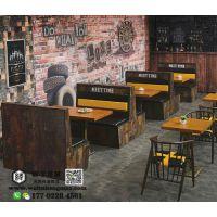天津西餐厅咖啡厅适用的餐桌餐椅设计,卡座沙发配套,厂家直销