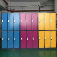 更衣柜 学校 彩色衣柜 学生 钢制柜子 现代 衣柜 重庆厂家直销