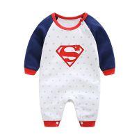 男女可爱超人纯棉婴儿服装春秋新款新生儿连体衣爬服哈衣一键代发