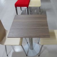 海德利 简约现代 定制新款客厅家具家用餐桌椅子简约钢木快餐桌椅餐厅餐桌一件代发