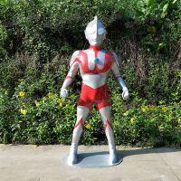 仿真玻璃钢超人雕塑玻璃纤维奥特曼造型商场游乐园景观雕塑定制
