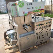 新款十种花型杂粮膨化机生产厂家,箱式暗仓柴油玉米膨化机