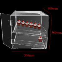 定做创意亚克力蛋糕甜点盒子 多层透明有机玻璃饼干防尘展示箱子亚克力盒子