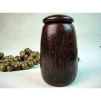 供应印度小叶紫檀雕件茶叶罐储香罐 胆型牙签筒牙签罐E800号