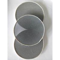 加工定制空调通风口专用铝基蜂窝光触媒 空气净化器用光触媒过滤网 圆片