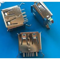 短体3.0 USB母座11.0mm弯脚插板180度直插 立式短体DIP有卷边
