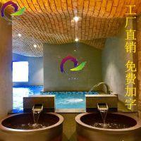 景德镇陶瓷泡澡缸定制浴场日式1.2米地排水洗澡大缸日式温泉洗浴缸