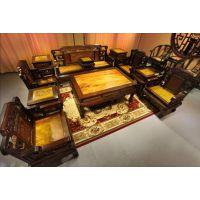 成都唐人坊 新中式家具定制 古典实木家具 仿古明清家具非洲黄花梨 书柜 茶桌 办公桌 来样定制