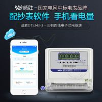 威胜DTS343-3三相四线电子式电能表+配套远程抄表系统