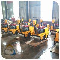 买手扶双轮压路机 找三人行机械 小型振动压路机每天流水生产