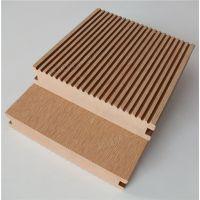 新型复合材料140*25户外PE木塑实心地板露台阳台户外栈道塑木地板室外专用