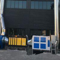 光氧催化净化器 uv光解废气除臭设备活性炭环保箱