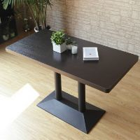 海德利定制实咖啡厅奶茶店实木餐桌椅美式乡村实木餐桌组合一桌四椅定做