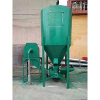 畜牧养殖饲料加工设备 立式1吨秸秆稻草粉碎搅拌一体机