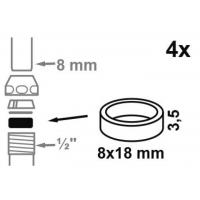 管道接头橡胶密封垫--通过NSF,FDA,KTW,W270,ACS,WRAS,UL等认证